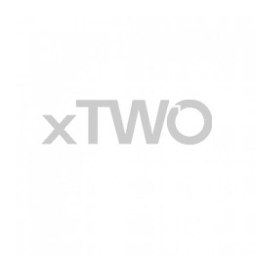 HSK - Porte coulissante 2-pièce avec la paroi latérale 50 mm ESG clair brillant, look chrome 41 1400/900 x 2000