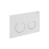 Geberit Kappa21 - Plaque de commande WC avec dispositif double touche 142 x 212 x 14 mm Blanc / chromé brillant