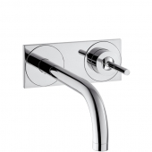 Hansgrohe Axor Uno² - Einhebel-Waschtischmischer Unterputz mit Auslauf 225 mm und Platte für Wandmontage