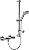 Hansa Hansaprisma - Mitigeur thermostatique ensemble mur-pôle, Hansa prisme 4808, chrome